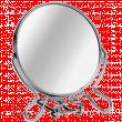 Зеркало металлическое №5 настольное 2-х стороннее