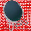 Зеркало металлическое №4 настольное 2-х стороннее