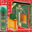 King подарочный набор мужской (т/в 100мл+пена д/бр 200мл)