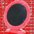 Зеркало настольное № A9 одностороннее красное