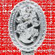Зеркало компактное складное Резное двойное серебро