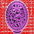 Зеркало компактное складное Резное двойное пурпурный
