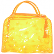 Косметичка банная №8531 оранжевая прозрачная