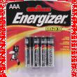 Батарейка Energizer Max AAA 1.5V щелочная 4шт