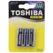 Батарейка Toshiba AAA 1.5V щелочная 4шт
