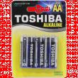 Батарейка Toshiba AA 1.5V щелочная 4шт