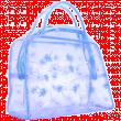 Косметичка банная №8531 голубая прозрачная